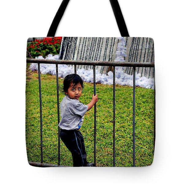 Little Boy In Peru Tote Bag