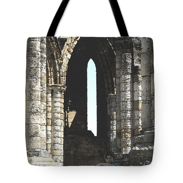 Little Boy Under The Arch Tote Bag