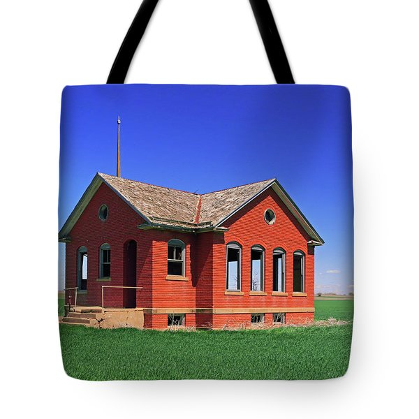 Little Brick School House Tote Bag