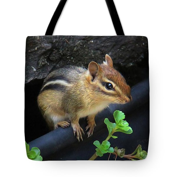 Little Chipmunk  Tote Bag by Yvonne Wright