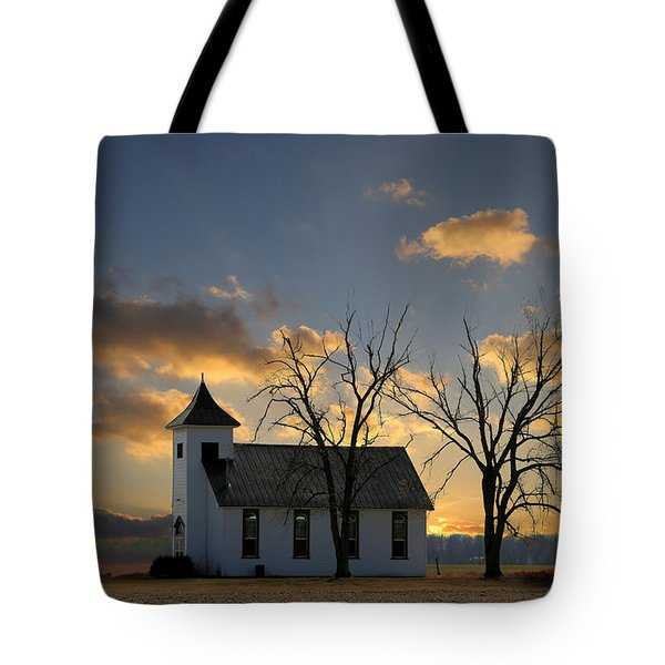 Little Church On The Prairie Tote Bag
