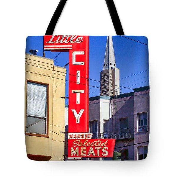 Little City Market North Beach San Francisco Tote Bag