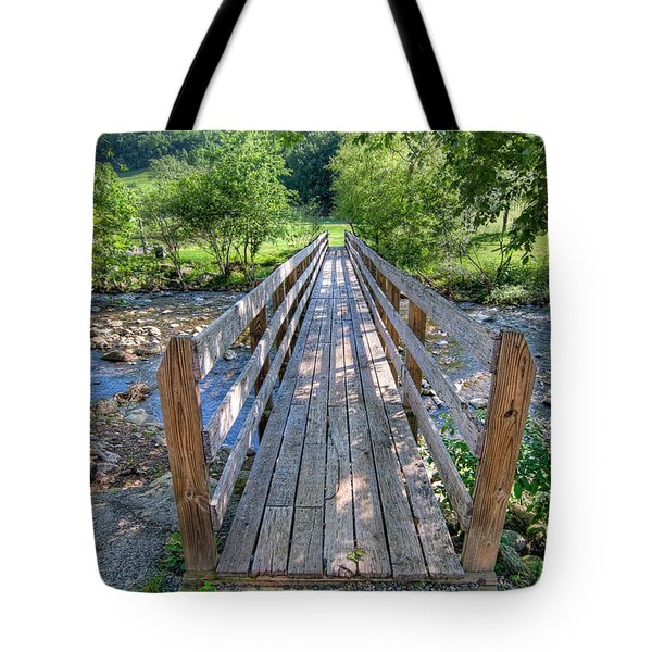 Tote Bag featuring the photograph Little Country Bridge by Tim Stanley