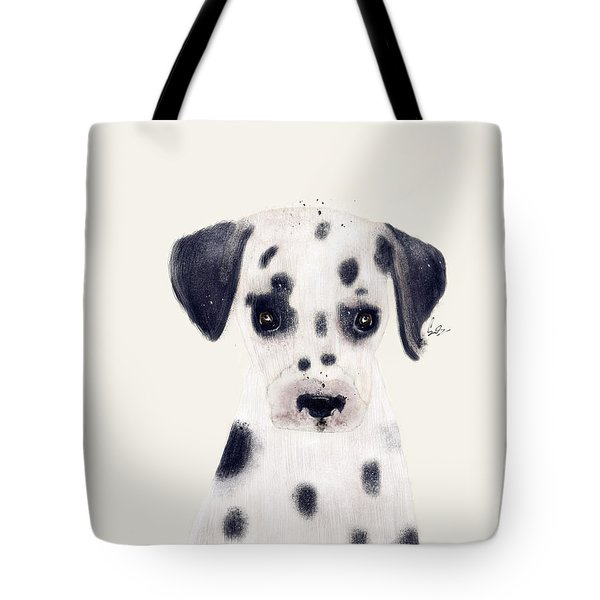 Tote Bag featuring the painting Little Dalmatian by Bri B