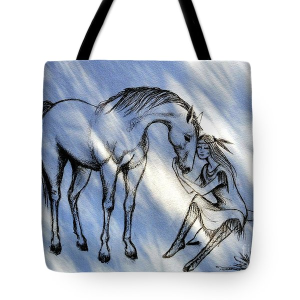 Little Deer And Wind Spirit Tote Bag