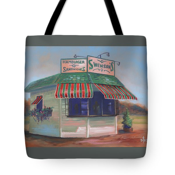 Little Drive-in On South Hawkins Ave Tote Bag