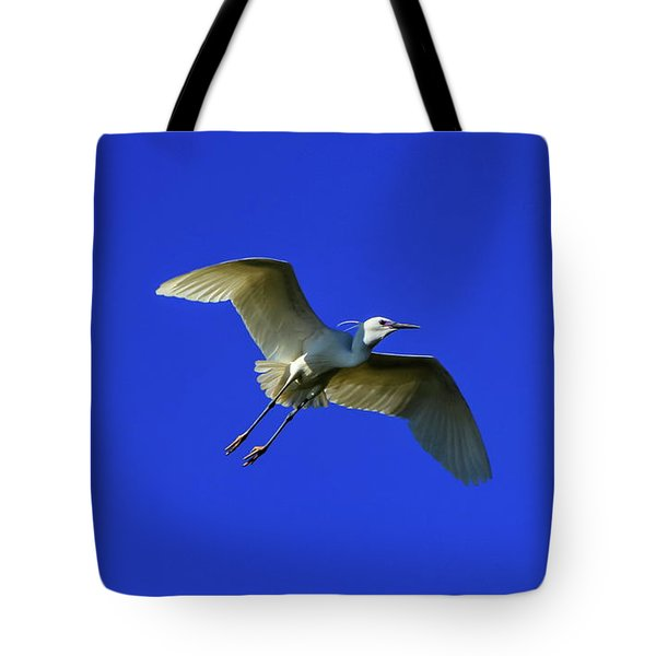 Little Egret, Egretta Garzetta Tote Bag by Elenarts - Elena Duvernay photo