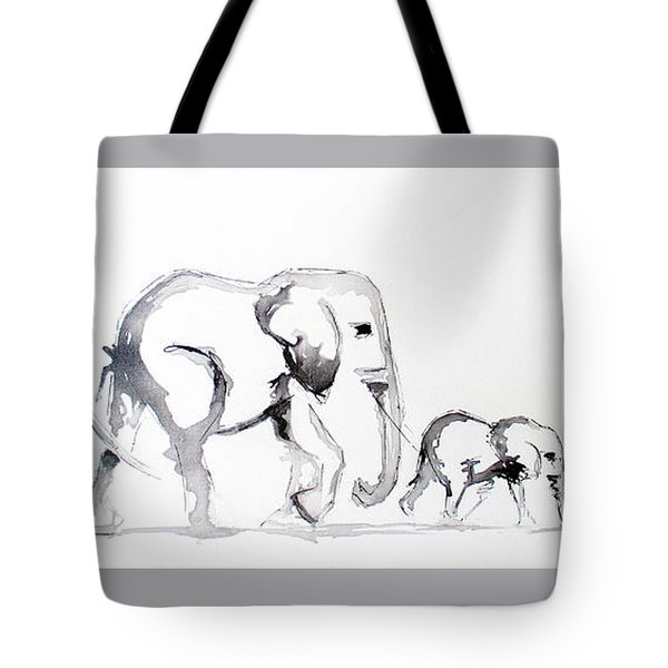 Little Elephant Family Tote Bag