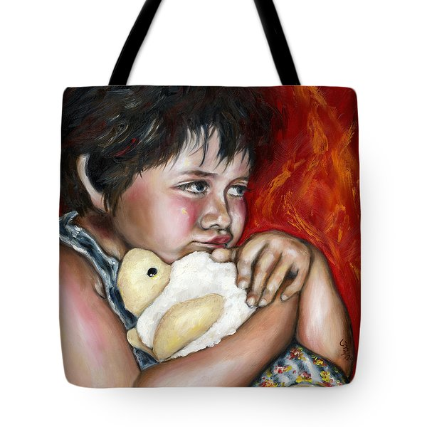 Tote Bag featuring the painting Little Fighter by Hiroko Sakai