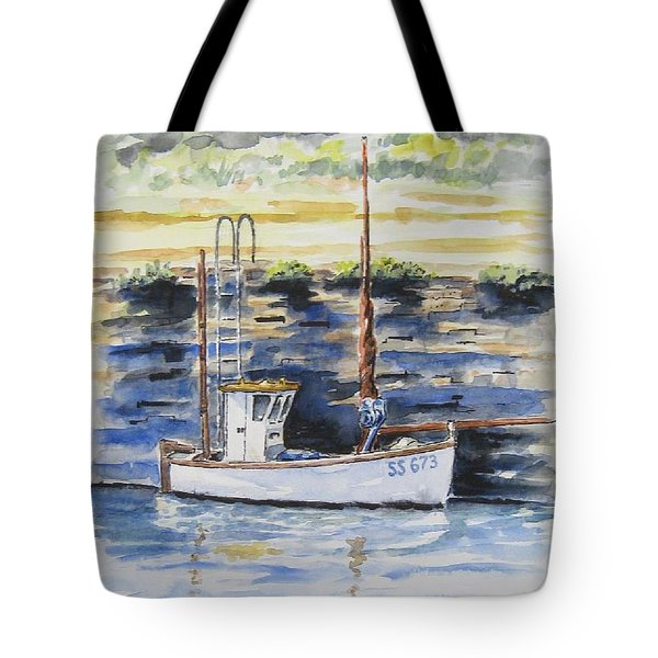 Little Fishing Boat Tote Bag