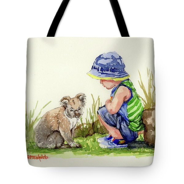 Little Friends Watercolor Tote Bag by Margaret Stockdale