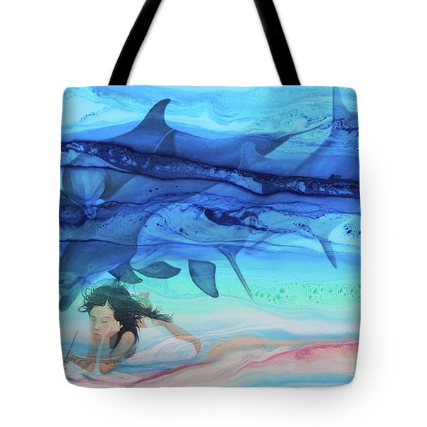 Little Girl Painter Tote Bag