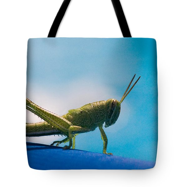 Little Grasshopper Tote Bag by Christopher Holmes