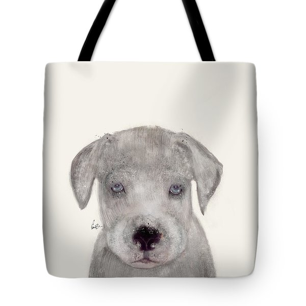 Tote Bag featuring the painting Little Great Dane by Bri B
