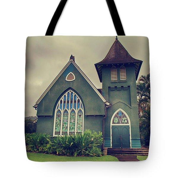 Little Green Church Tote Bag