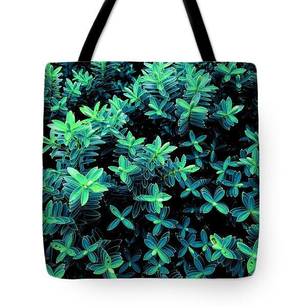 Little Green Crosses Tote Bag