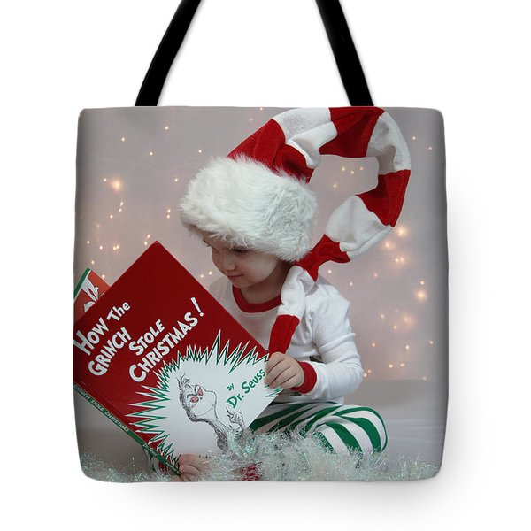 Little Grinch Tote Bag