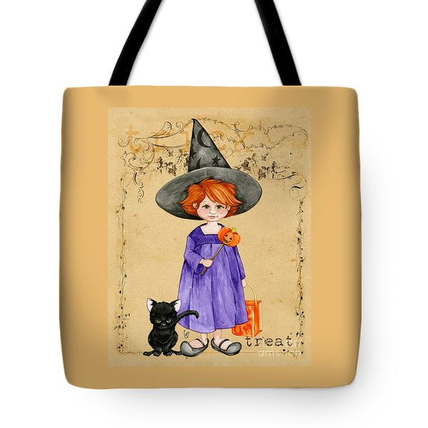 Little Halloween Witch Tote Bag