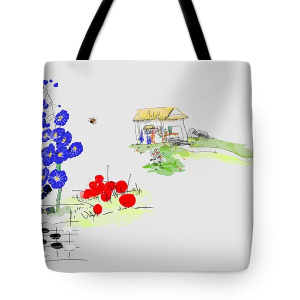 Little House And Garden Tote Bag