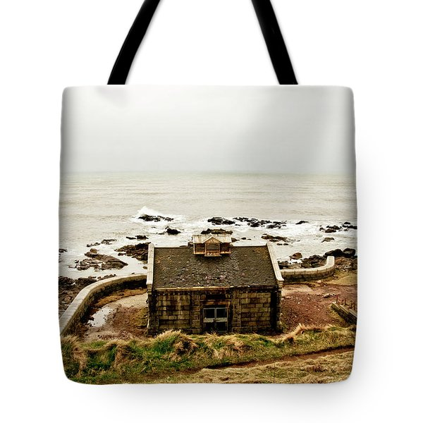 Little House At The Nigg Bay. Tote Bag