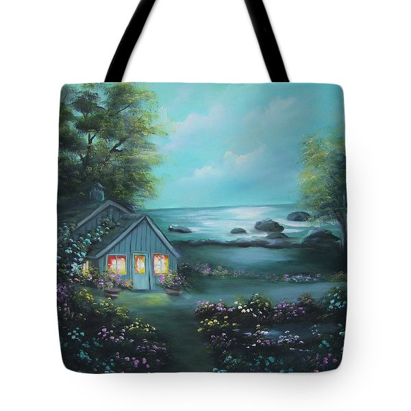 Little House By The Sea Tote Bag