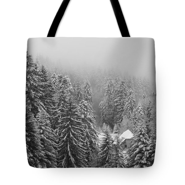 Little House In The Deep Forest Tote Bag by Colleen Williams