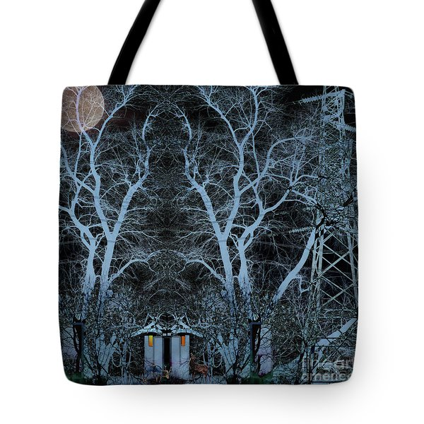 Little House In The Woods Tote Bag