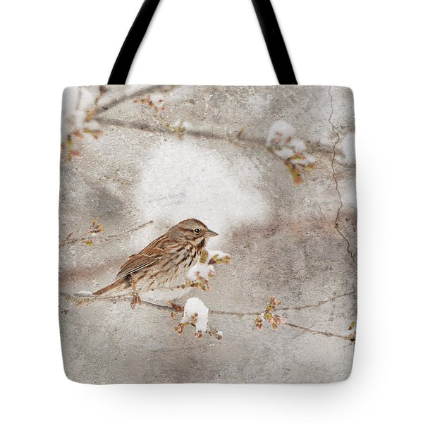 Little House Sparrow Tote Bag