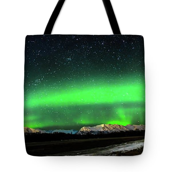 Little House Under The Aurora Tote Bag