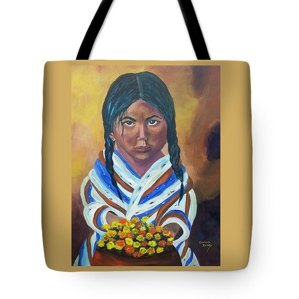 Little Indian Flower Girl Tote Bag