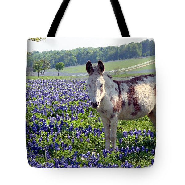 Little Jesus Donkey Tote Bag by Linda Cox