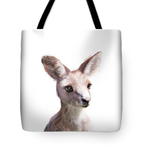 Little Kangaroo Tote Bag by Amy Hamilton