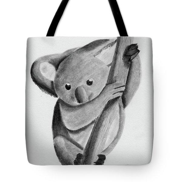 Little Koala On A Tree Tote Bag