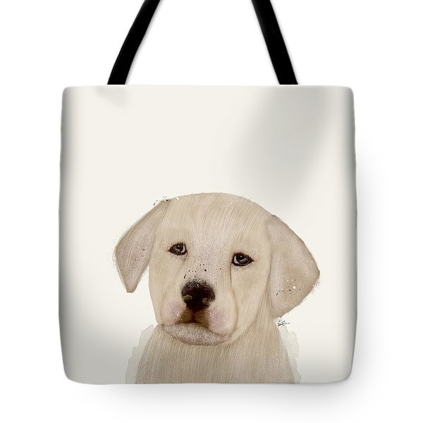 Tote Bag featuring the painting Little Labrador by Bri B