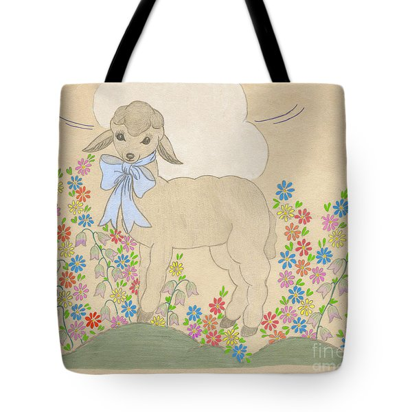 Little Lamb Lightened Tote Bag