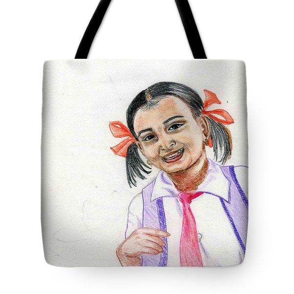 Little Manju Tote Bag by Asha Sudhaker Shenoy