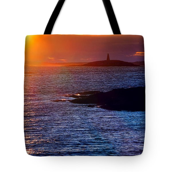 Little Mark Island At Sunset Tote Bag
