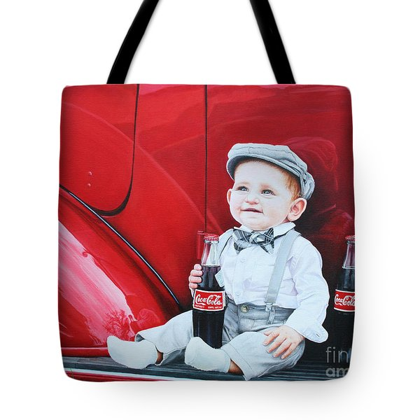 Tote Bag featuring the painting Little Mason by Mike Ivey