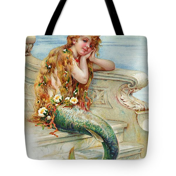 Little Mermaid Tote Bag by E S Hardy