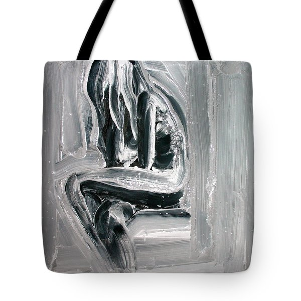 Tote Bag featuring the painting Little Mermaid by Jarmo Korhonen aka Jarko