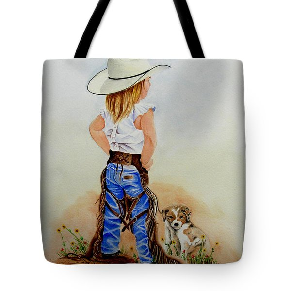 Little Miss Big Britches Tote Bag by Jimmy Smith