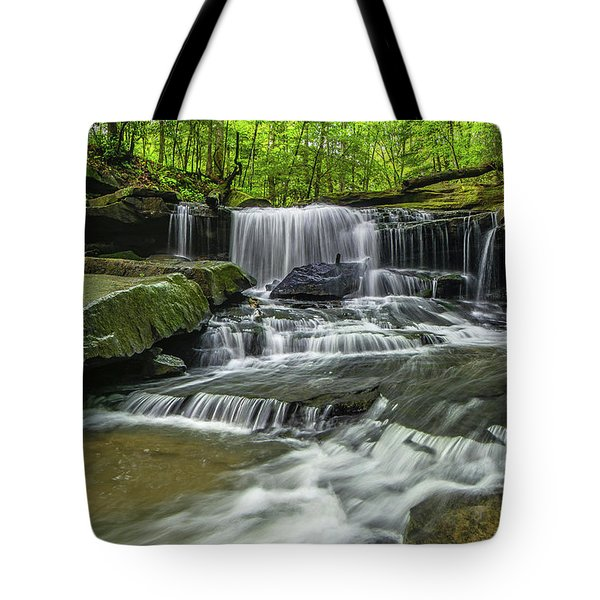Little Mudlick Falls Tote Bag by Ulrich Burkhalter