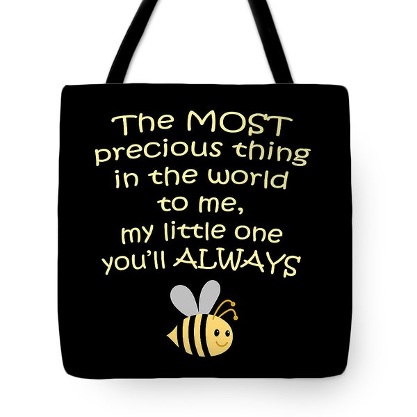 Little One You'll Always Bee Print Tote Bag