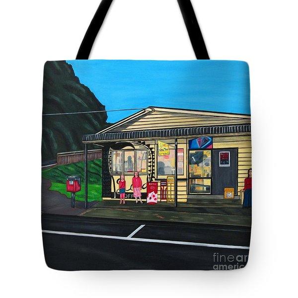 Little Oneroa Store Tote Bag by Sandra Marie Adams