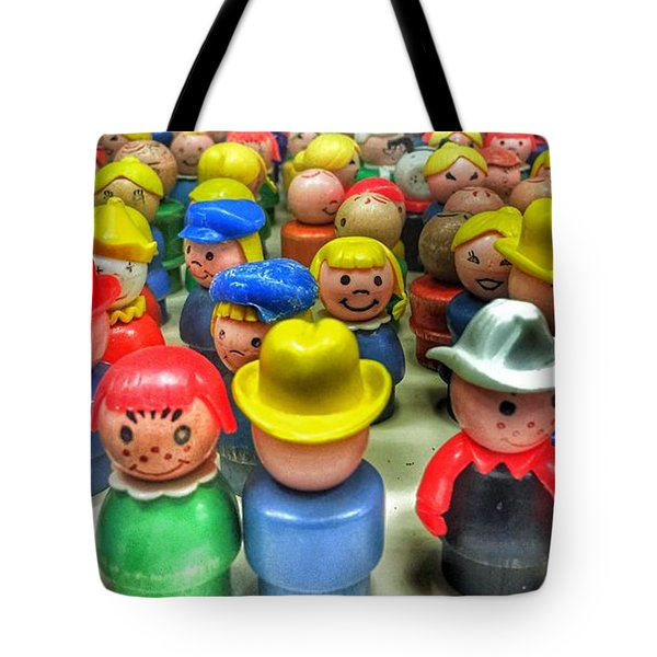 Little People Tote Bag by Jame Hayes