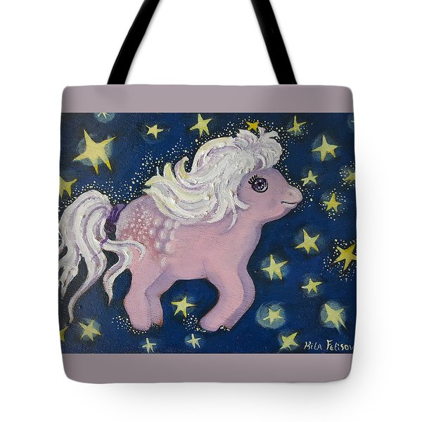Little Pink Horse Tote Bag by Rita Fetisov