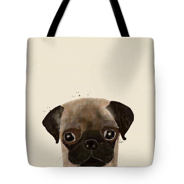Tote Bag featuring the photograph Little Pug by Bri B