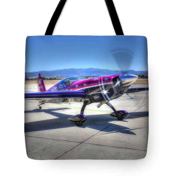 Tote Bag featuring the photograph Little Purple And Vickey Benzing by John King