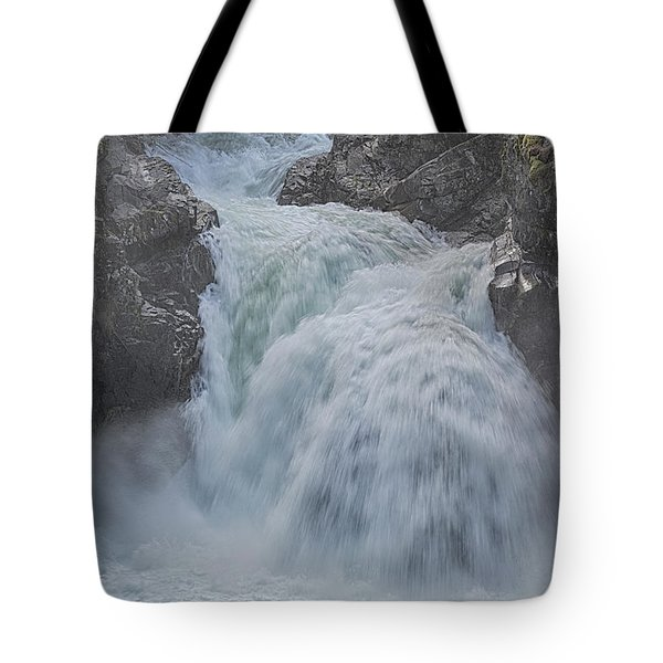 Tote Bag featuring the photograph Little Qualicum Upper Falls by Randy Hall