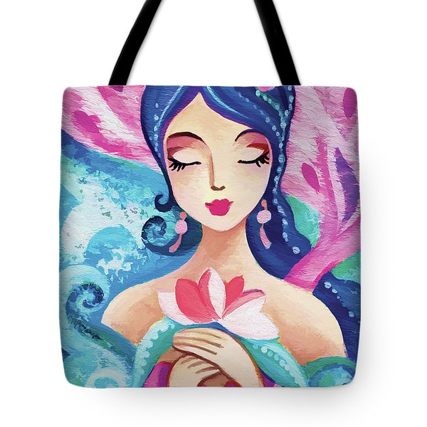 Little Quan Yin Mermaid Tote Bag